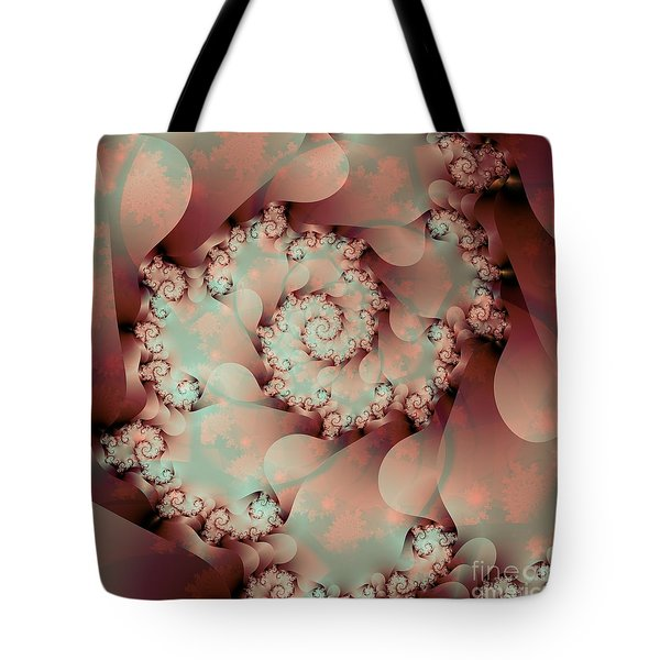 Tote Bag featuring the digital art A Look Inside by Michelle H