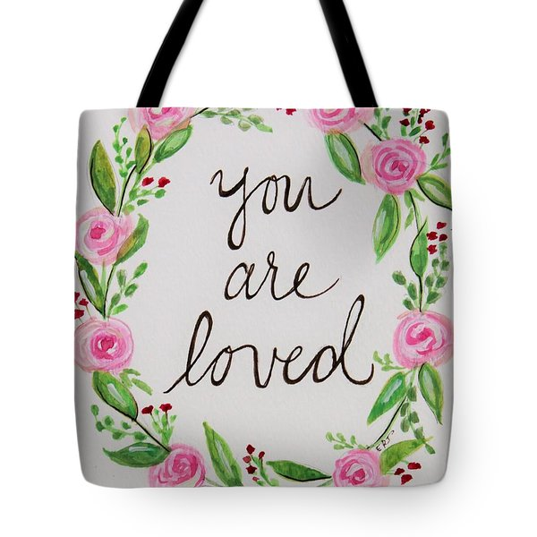 A Love Note Tote Bag by Elizabeth Robinette Tyndall