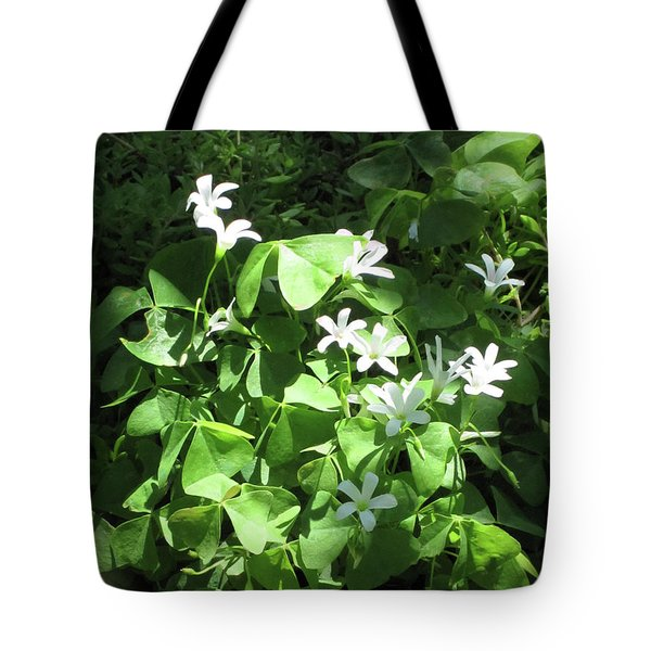 Tote Bag featuring the photograph A Lovely Spot For Shamrocks by Nancy Lee Moran