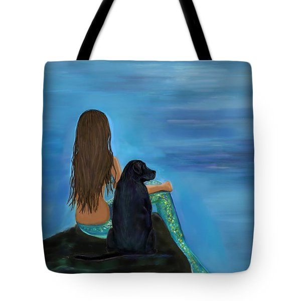 Tote Bag featuring the painting A Loyal Buddy by Leslie Allen