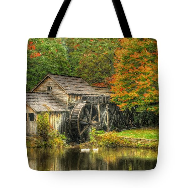 A Mabry Mill Autumn Tote Bag