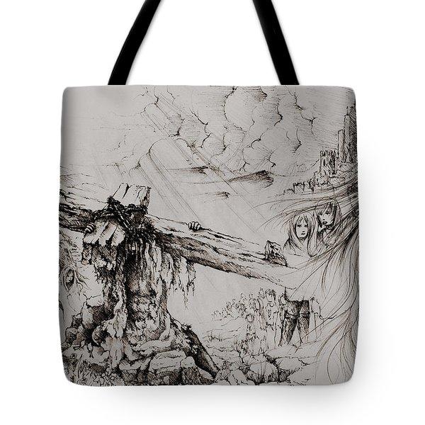 A Man Of Sorrows Tote Bag by Rachel Christine Nowicki