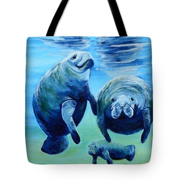 A Manatee Family Tote Bag
