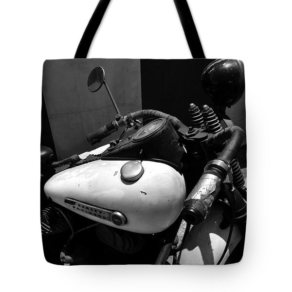 A Mans Harley Tote Bag by David Lee Thompson