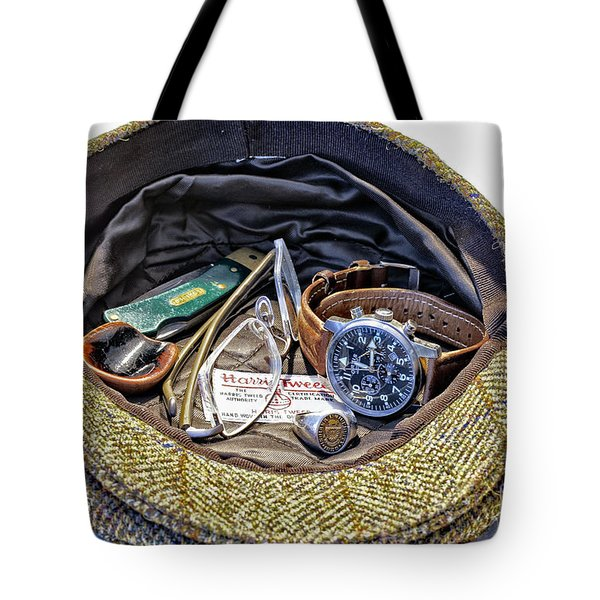 Tote Bag featuring the photograph A Man's Items by Walt Foegelle