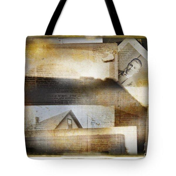 A Man's Story Tote Bag by Craig J Satterlee