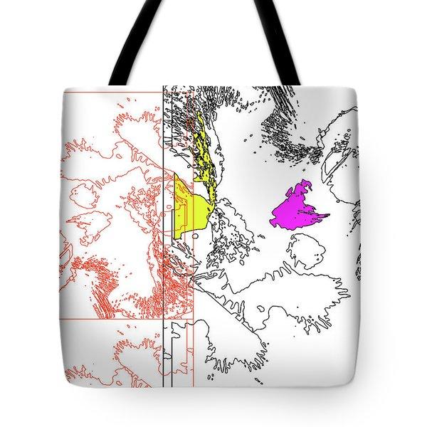 A Map Of Irises Tote Bag