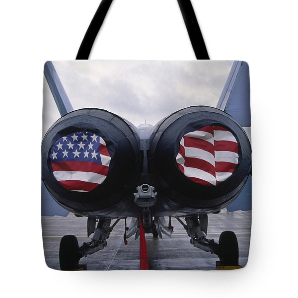 A Mcdonnell Douglas F/a-18 Hornet Twin-engine Supersonic Fighter Aircraft Tote Bag