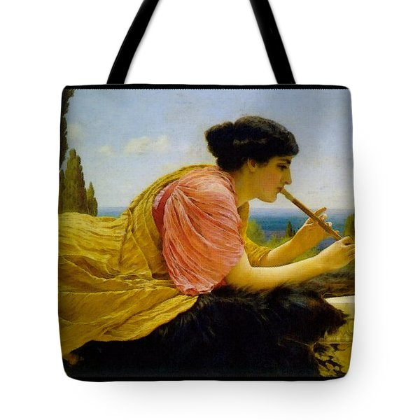 A Melody  Tote Bag by John William Godward