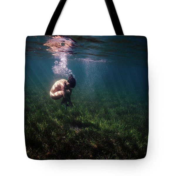 A Mermaid In A Sea Of Coral Tote Bag