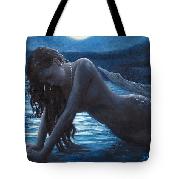 A Mermaid In The Moonlight - Love Is Mystery Tote Bag