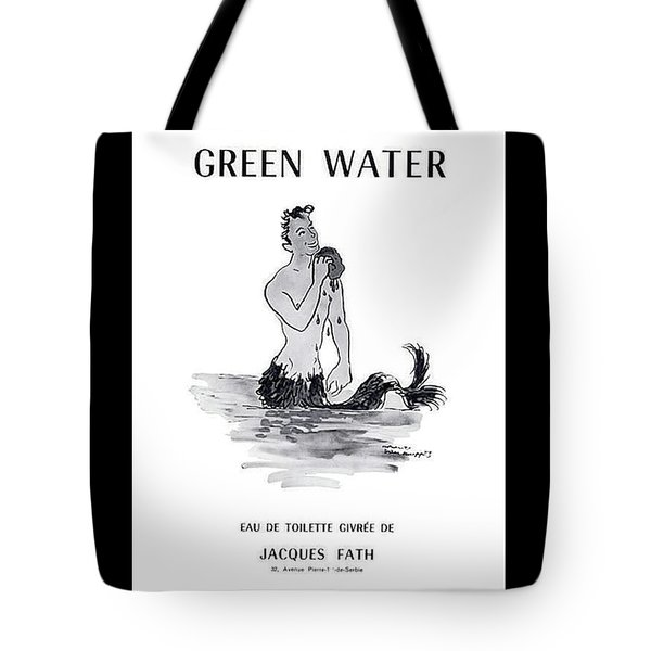 Tote Bag featuring the digital art A Merman by ReInVintaged