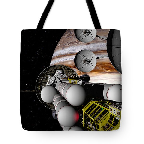 Tote Bag featuring the digital art A Message Back Home by David Robinson