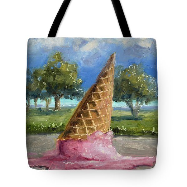 Tote Bag featuring the painting A Mid Summer Tragedy by Billie Colson