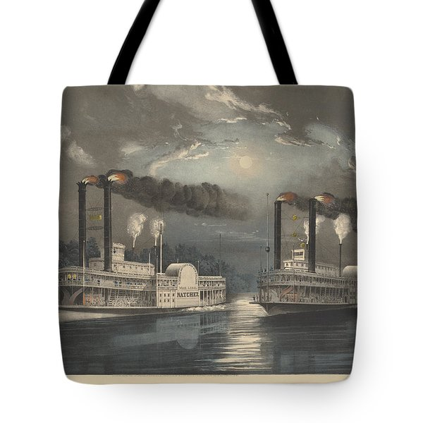A Midnight Race On The Mississippi Tote Bag
