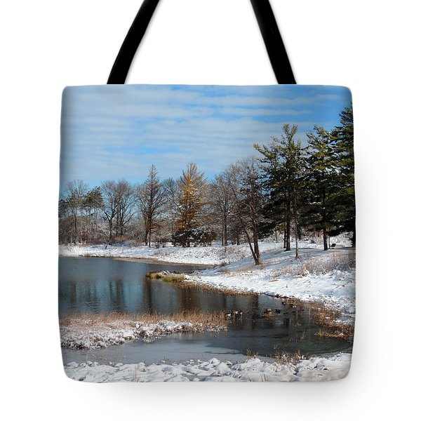 A Mild Winter Morning Tote Bag