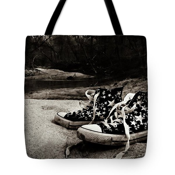 Tote Bag featuring the photograph A Mile In My Shoes by Jessica Brawley