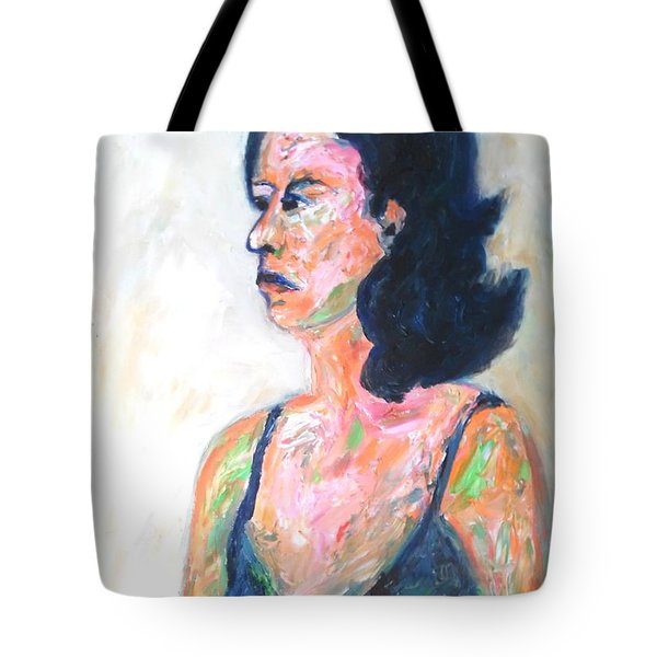 Tote Bag featuring the painting A Modern Madame Bovary by Esther Newman-Cohen