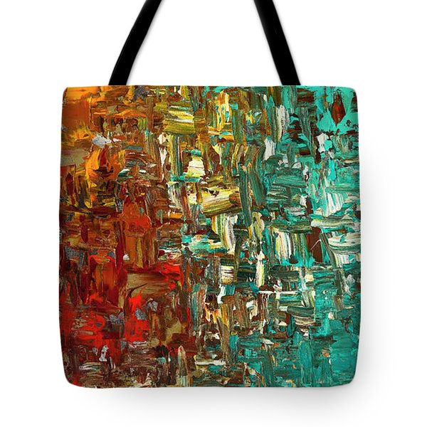 A Moment In Time - Abstract Art Tote Bag