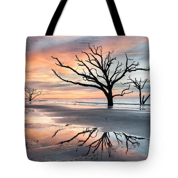 A Moment Of Reflection - Charleston's Botany Bay Boneyard Beach Tote Bag