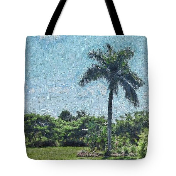 A Monet Palm Tote Bag