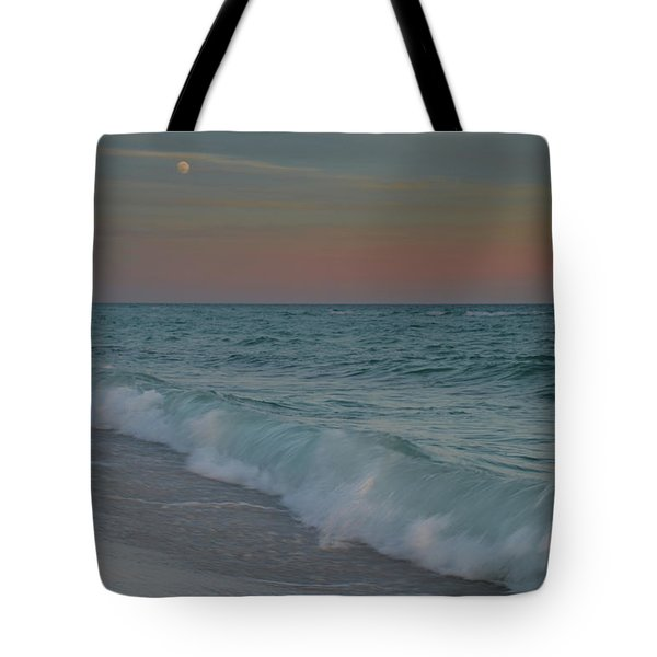 A Moonlit Evening On The Beach Tote Bag