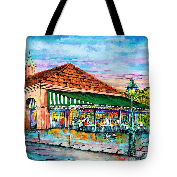 A Morning At Cafe Du Monde Tote Bag