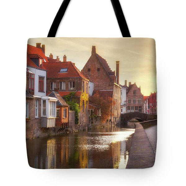A Morning In Brugge Tote Bag by JR Photography