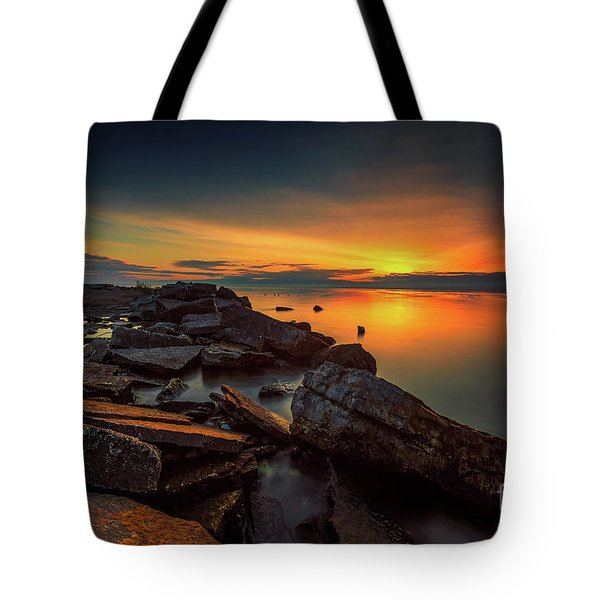 A Morning On The Rocks Tote Bag