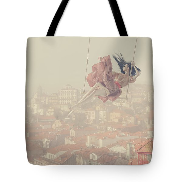 a morning over Oporto Tote Bag