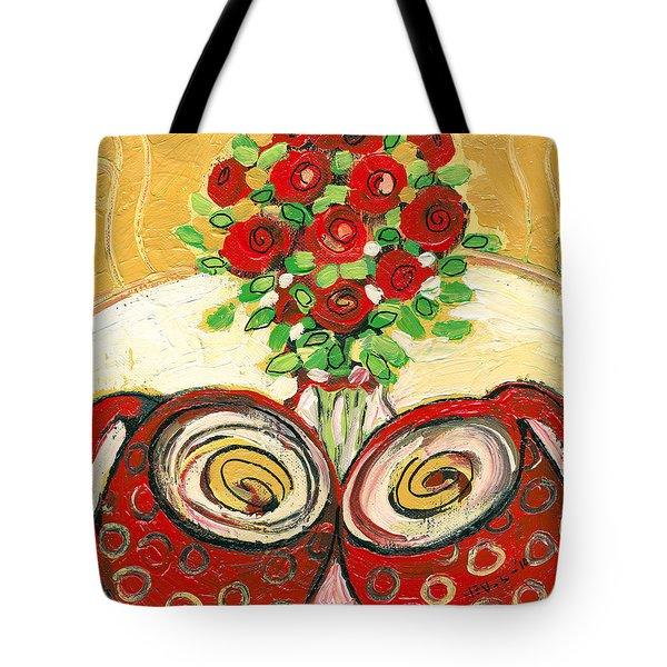 A Morning Toast To Romance Tote Bag