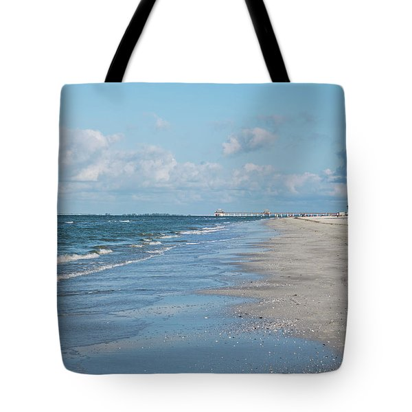 A Morning Walk On Fort Myers Beach Fort Myers Florida Tote Bag