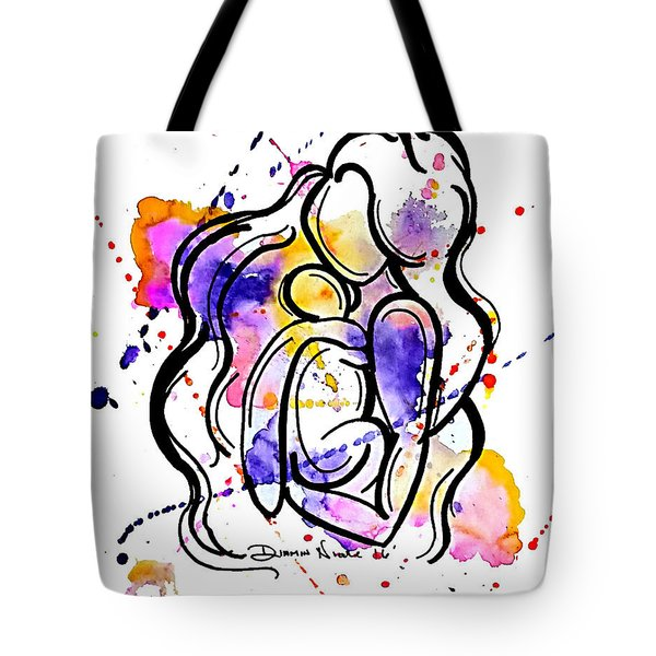 A Mother's Love Tote Bag by Diamin Nicole
