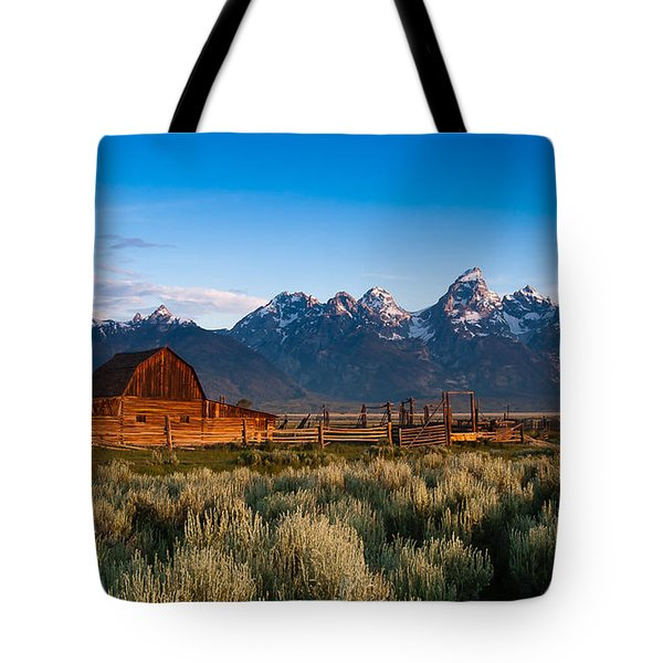 Tote Bag featuring the photograph A Moulton Barn by Monte Stevens