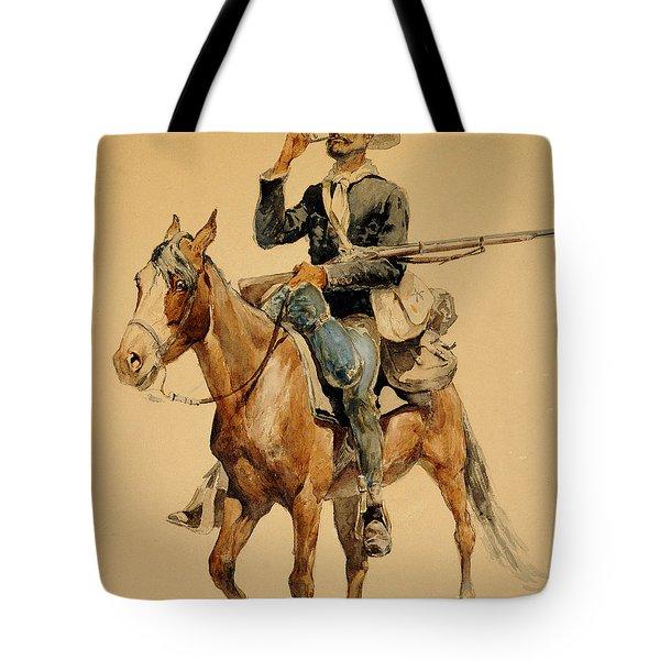 A Mounted Infantryman Tote Bag