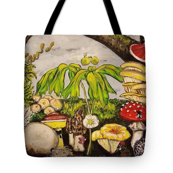 A Mushroom Story Tote Bag