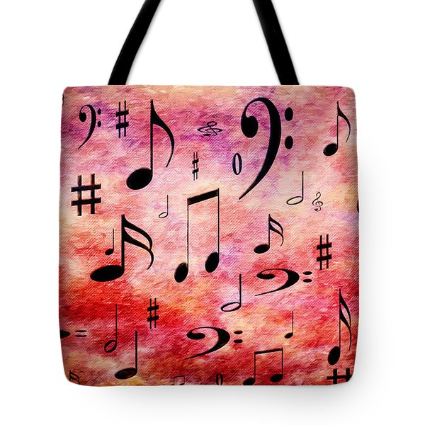 Tote Bag featuring the digital art A Musical Storm 4 by Andee Design