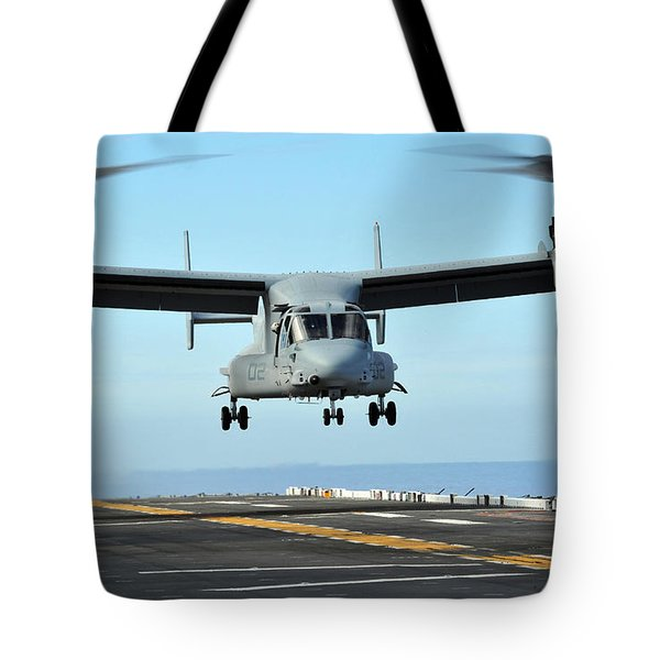 A Mv-22 Osprey Aircraft Prepares Tote Bag by Stocktrek Images