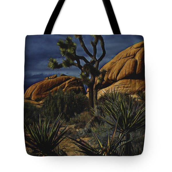 A Mysterious Stormy Desert Sky Tote Bag