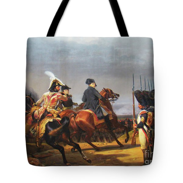 A Napoleonic War At Versailles Tote Bag by Al Bourassa