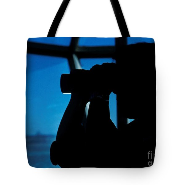 A Navy Air Traffic Controller Maintains Tote Bag by Michael Wood