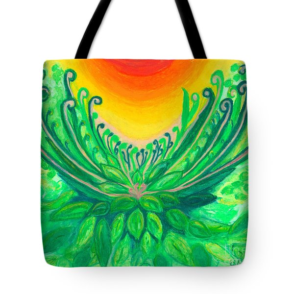Tote Bag featuring the painting A New Beginning by Ania M Milo
