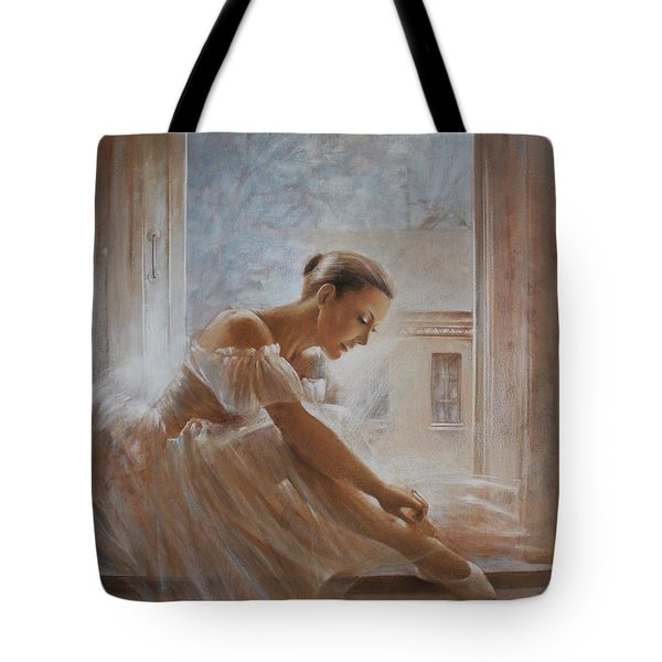 A New Day Ballerina Dance Tote Bag