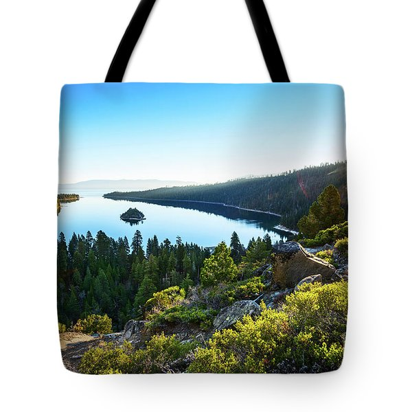 A New Day Over Emerald Bay Tote Bag