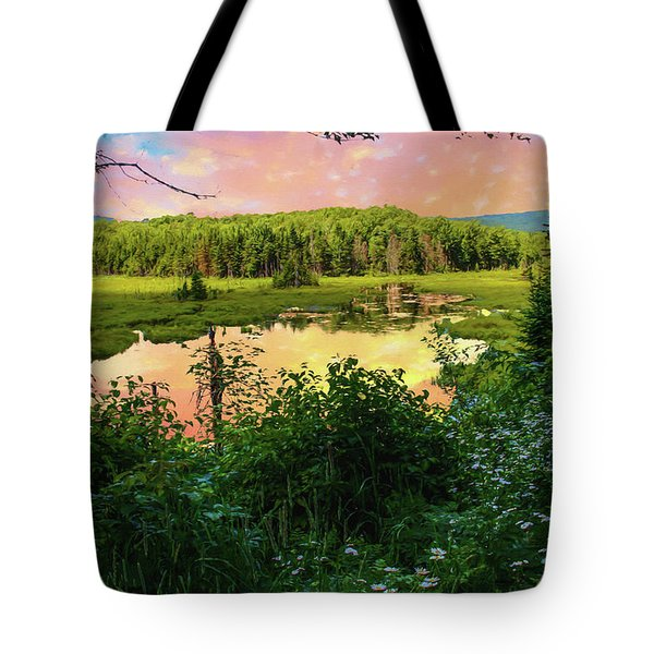 A New England Bog. Tote Bag