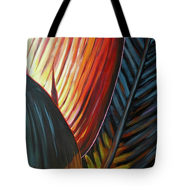 Tote Bag featuring the painting A New Leaf by Lesley Spanos