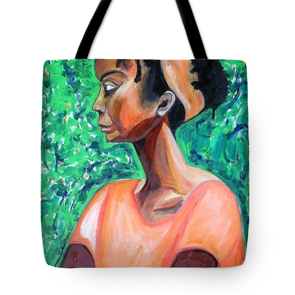 Tote Bag featuring the painting A New Queen Of Sheba by Esther Newman-Cohen
