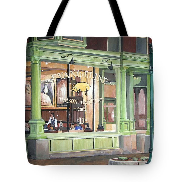 A Night At Evangeline Tote Bag