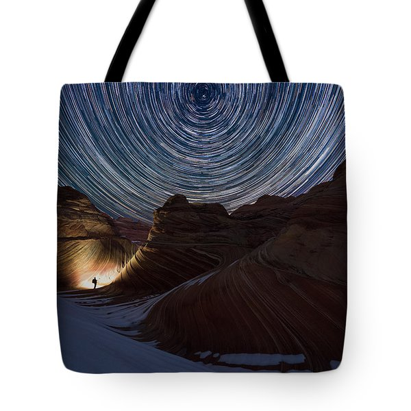 A Night At The Wave Tote Bag by Dustin  LeFevre