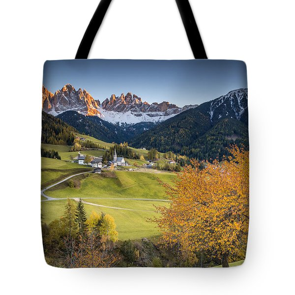 A Night In Dolomites Tote Bag